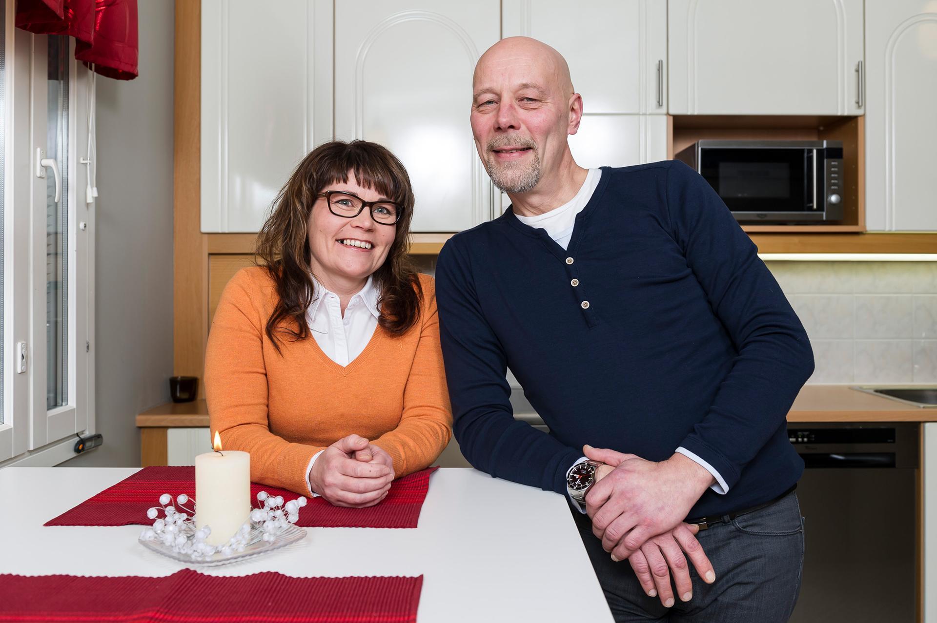 Sari Kotila ja Reijo Turpeenniemi ovat Kotigallerian asiakkaita